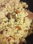 millet and vegetables