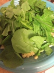 adding the mustard greens