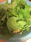 adding the mustard greens